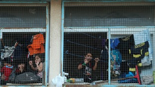 Palestinians displaced by an Israeli ground offensive in Jebalya.