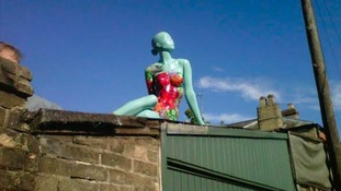The stolen mannequin