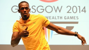 Jamaica's Usain Bolt during a press conference at the MPC, during the 2014 Commonwealth Games in Glasgow.