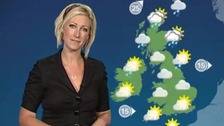 Unsettled in the north today, dry and warm further south