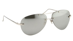 Third style of sunglasses with silver plated lenses