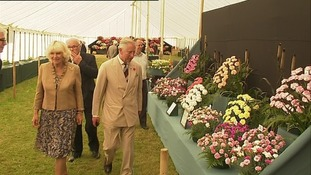 Charles and Camilla tour the exhibits