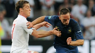 England's Scott Parker (left) and Franck Ribery.