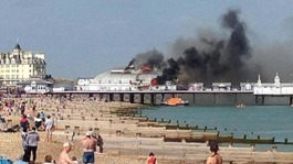 Eastbourne Pier fire now treated as suspicious, police say