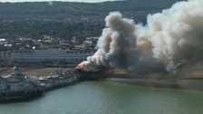 Fire services tackling major blaze on Eastbourne Pier
