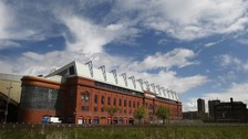 The Ibrox stadium.