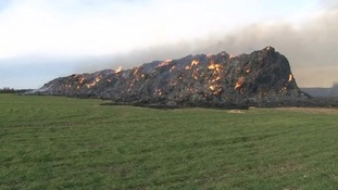 Farmers warned to take precautions against straw stack arsonists.