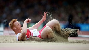 England's Greg Rutherford during the Men's Long Jump Final at Hampden Park, during the 2014 Commonwealth Games in Glasgow.