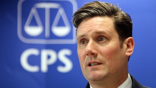 Sir Keir Starmer pictured at the CPS in 2010.