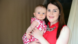 Nicola McNamee and daughter Melissa Rose at home in Lisnaskea, Co. Fermanagh.