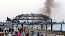 Historic Eastbourne Pier gutted by major fire
