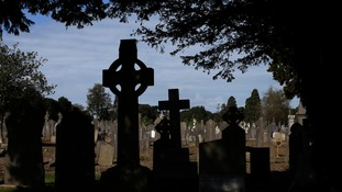 Headstones in Glasnevin cemetery, Dublin.