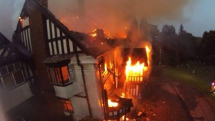 The fire was at the Northfield Manor House in Griffin Close