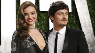 Orlando Bloom pictured with his former wife Miranda Kerr.