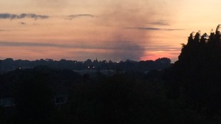 The smoke seen from a window in Kings Norton