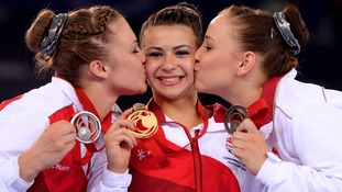 Bristol's Claudia Fragapane wine gold while Ruby Harrold from Lower Langford takes silver