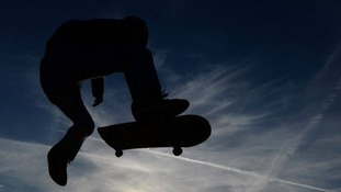 Skateboarders could receive a police caution.
