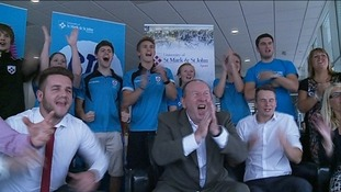 University of St Mark & St John celebrate Ben's win