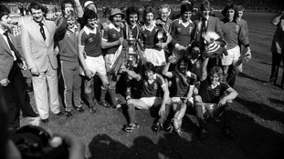 Ipswich Town celebrate winning the FA Cup in 1978.