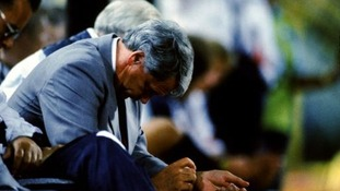 Sir Bobby Robson can't hide his disappointment as England are knocked out in the last four.