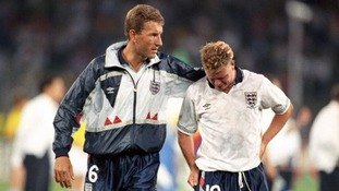 Gazza struggles to hold back the tears.