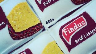Felt version of Findus beef lasagne