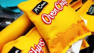 Felt version of McCain oven chips