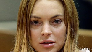 Lindsay Lohan famously wore a 'sobriety tag'.