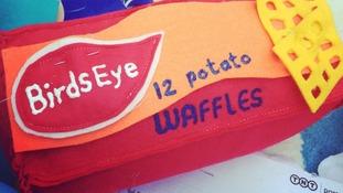 Felt Birds Eye waffles
