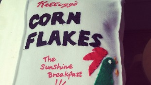 Felt Corn Flakes