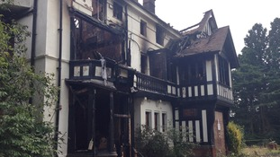 The fire ripped through the house in Northfield last night