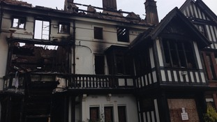 Crews from 12 fire engines tackled the blaze at its height