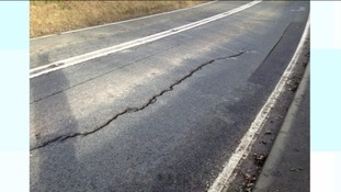 Kelston road damaged by heavy rainfall