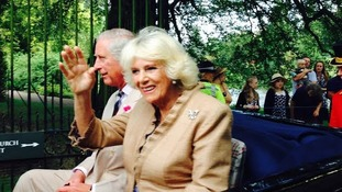 It turned out to be Camilla's hand, not Charles'!