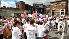 Marchers at Liverpool Pride 2013