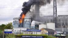 Ferrybridge ablaze