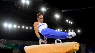 Dan Keatings produced a brilliant display on the Pommel Horse.