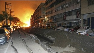 Gas pipes exploded in Taiwan.