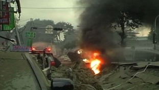 A gas explosion goes off in the city of Kaohsiung.