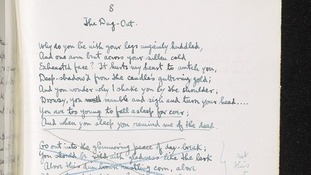 An early draft of Sassoon's poem 'The Dug-Out.'
