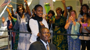 Meriam Ibrahim and husband Daniel Wani were overwhelmed by the welcome.