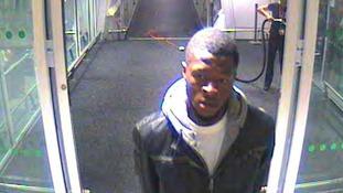 CCTV of Jeffery Okafor taken at Heathrow Airport