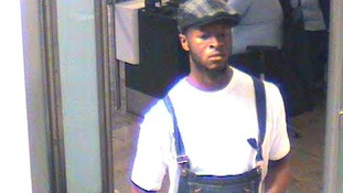 CCTV images of Jeffery Okafor taken at Heathrow Airport
