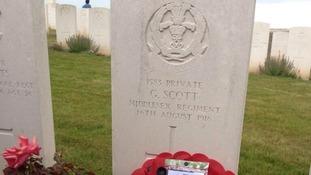 George Scott's grave
