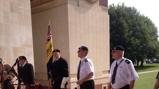 Fans at Thiepval Memorial