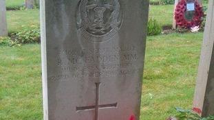 Richard McFadden's grave