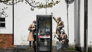 Police investigate reports of damage to Cheltenham's Banksy artwork