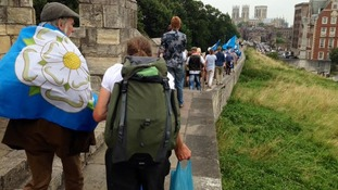 The Yorkshire Ridings society led a walk around York's walls