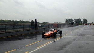 Rain doesn't dampen the excitement at the Croft Circuit.
