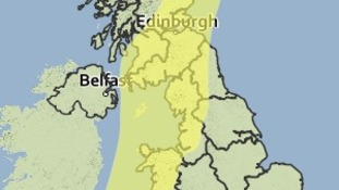 Weather warning for rain on Saturday 2nd August 2014